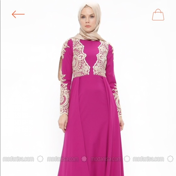 6e6e00b6f6 modanisa Dresses | Nwt Pink Muslim Evening Dress Minel Ak | Poshmark